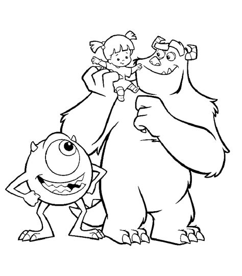 Disney Coloring Pages Monsters Inc And