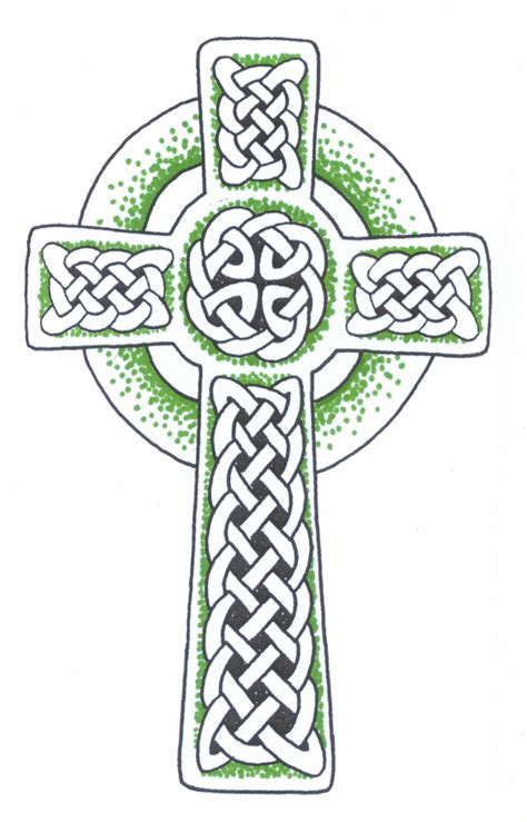 irish cross tattoo designs panting celtic cross