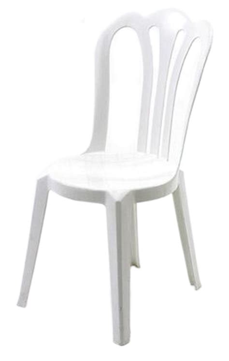 White Plastic Stackable Chairs by Rental Chairs Allied Rentals