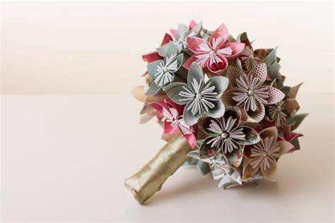 Origami Wedding Bouquet - origami flower bouquet origami bouquet paper flower