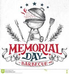 memorial day greeting card barbecue invitation stock