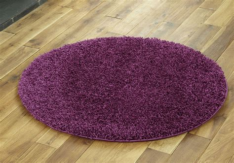 Large Circle Rugs by Large Medium Small 5cm Pile Thick Quality Plain Soft Non