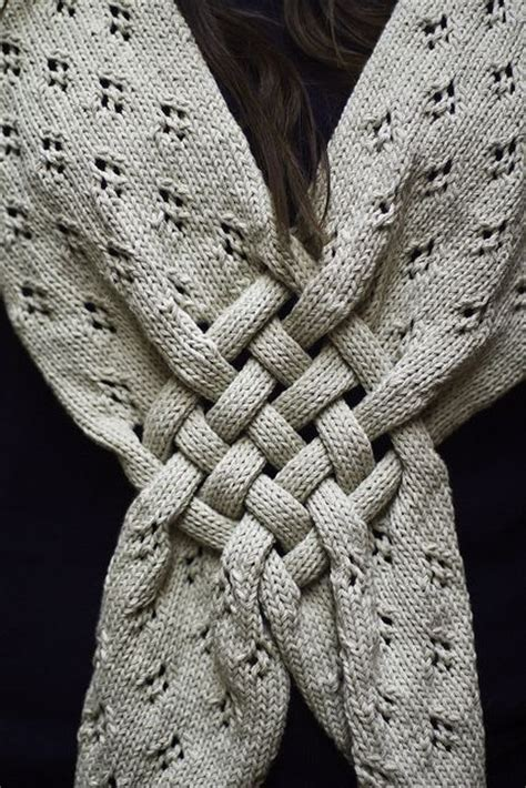 how to knit a knot knit scarf w woven quot celtic knot quot detail handwork