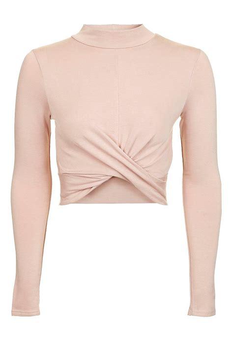 Twis Top sleeve twist crop top tops clothing topshop