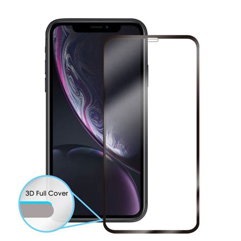 movfazz robustech 3d cover glass protecto for iphone xr front black
