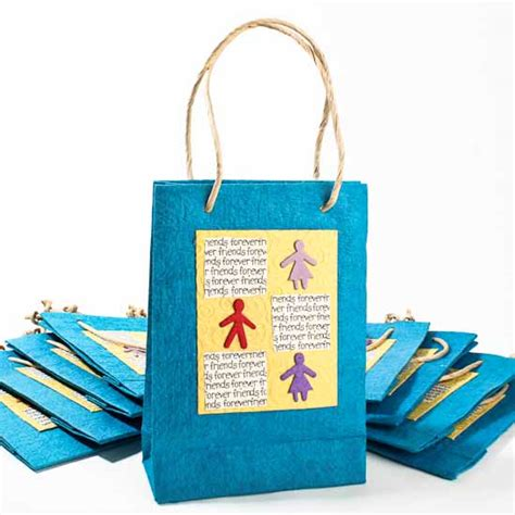 Handmade Craft Bags - friends forever handmade paper gift bags bags basic