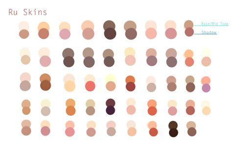 una paleta de tonos de piel modelos para dibujar colores arte y fotos
