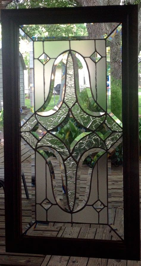 stained glass panel window stlye crafted