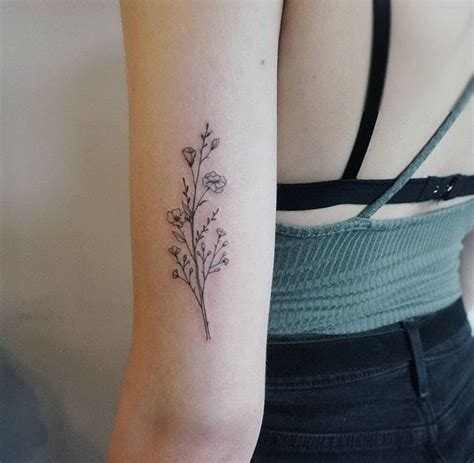 small bicep tattoos 25 best ideas about wildflower on