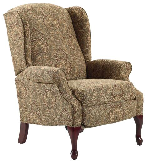 high leg wingback recliner recliners hton traditional high leg recliner in wing