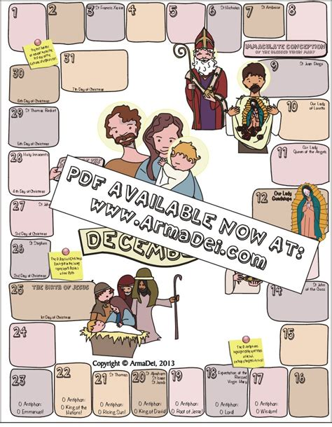communion of saints family calendar