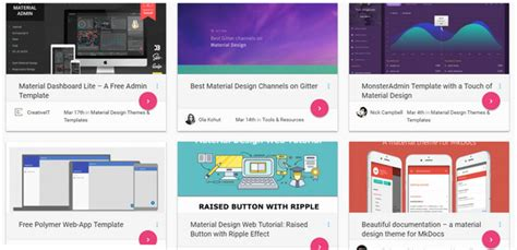 material design blog layout material design helpful resources tools and code snippets
