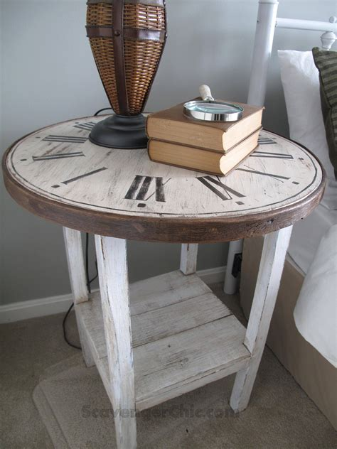 clock table from a flea market find scavenger chic