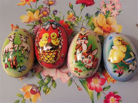 vintage tin easter eggs flickr easter pinterest