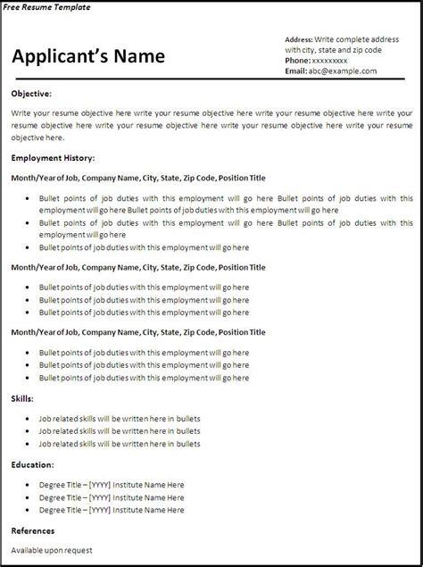 Curriculum Vitae Blank Form   Job Resume Samples