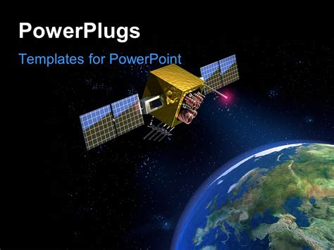 Powerpoint Template Satellite Hovering In Space Over Satellite Ppt Template Free