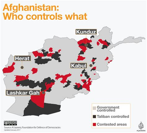 taliban on world map afghanistan who controls what afghanistan al jazeera