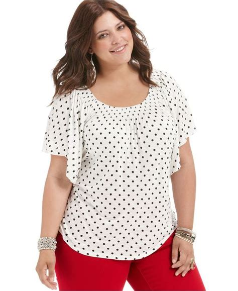 Simple Polkadot Tops by 5 Plus Size Polka Dot Top For All Day Styling