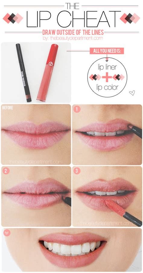 Tattoo To Make Lips Look Bigger | 20 helpful makeup tutorials