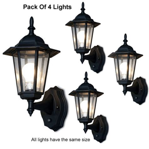 Outdoor Lights With Photocell 6 Panel Outdoor Lantern With Smart Photocell Sensors Pack Of 4 Lights Ebay