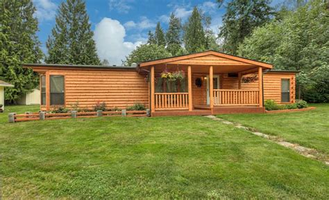 Wide Log Cabin Mobile Homes by Single Wide Mobile Home Cedar Browse Some Exles Of