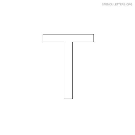 printable letter t stencils 5 best images of printable block letter lowercase t