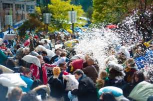 Pillow Fight Vancouver by Pillow Fight Flashmob Descends On Vancouver This Weekend