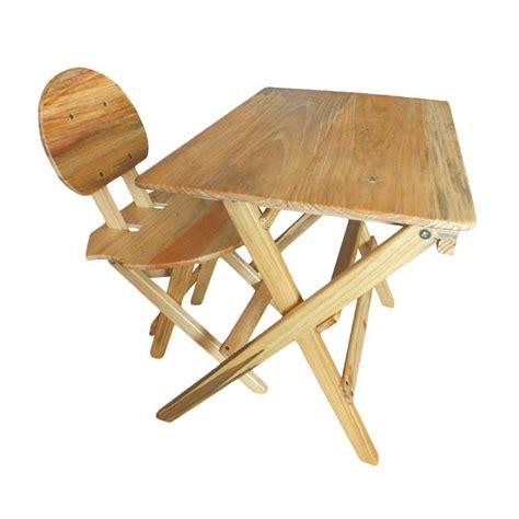Meja Belajar Kayu Mahoni jual barangunik 1 set meja kursi kayu lipat belajar anak
