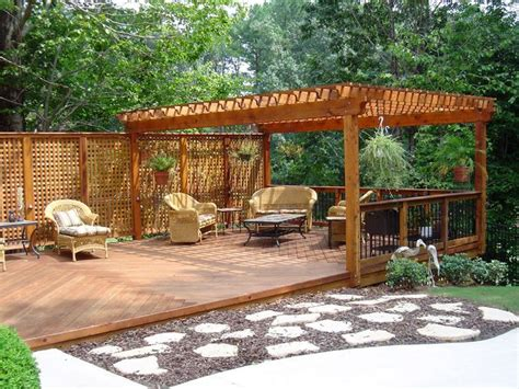 Backyard Deck Ideas Ground Level 25 Best Ideas About Ground Level Deck On