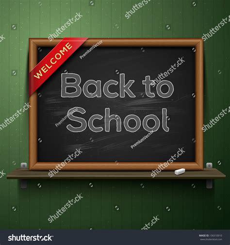 On The Shelf Back To School by Back To School Blackboard On The Shelf Vector