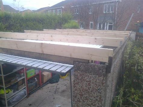 Garage Re Roofing by Pent Re Roof Project White Buildings