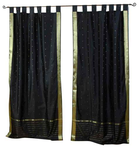 sheer cafe curtains black tab top sheer sari cafe curtain drape panel