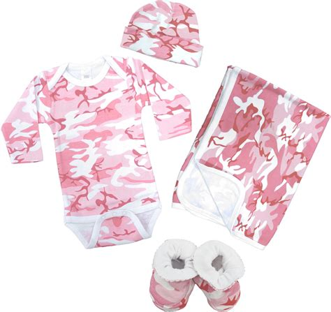 Pink camo baby clothing deluxe gift set baby n toddler