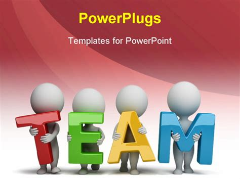 3d Small People Holding Hands In The Word Team 3d Image Team Powerpoint Templates Free