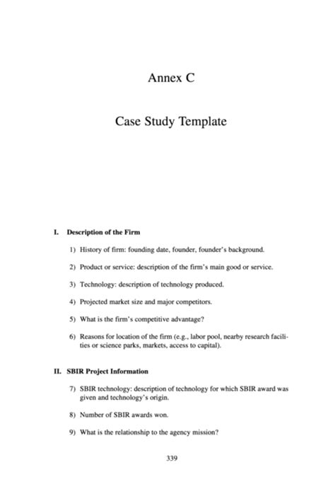 small business participation plan template the small business innovation research program an