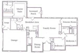 One Story Ranch Style House Plans by Gallery For Gt Single Story Ranch House Floor Plans
