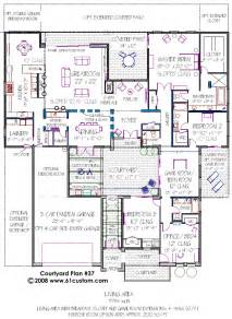 House Plans With Courtyards Courtyard House Plan Modern Courtyard House Plans
