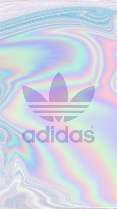 Girly Adidas Wallpaper | adidas holographic wallpaper cute wallpapers pinterest