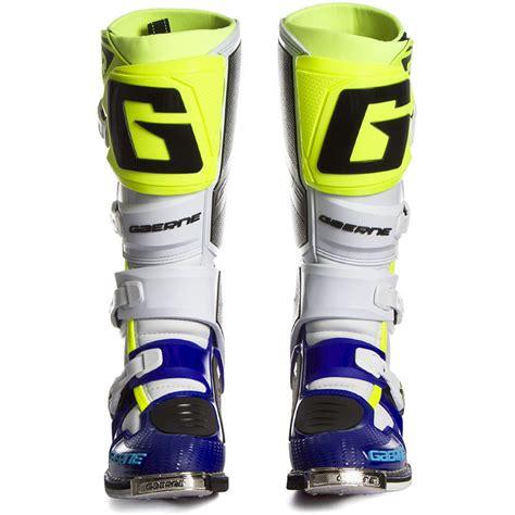blue motocross boots new gaerne 2018 mx sg 12 blue white fluo yellow premium