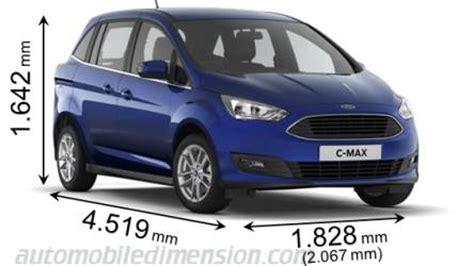 Ford Grand C Max Abmessungen by Abmessungen Der Ford Autos Mit L 228 Nge Breite Und H 246 He
