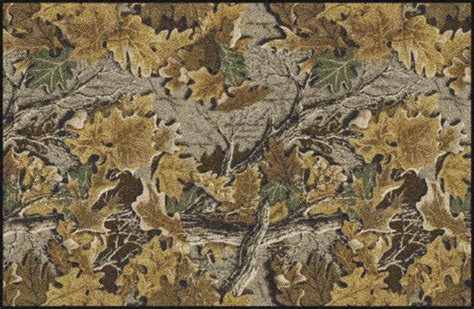 leaf pattern camouflage advantage realtree leaves branches camouflage nylon area rug