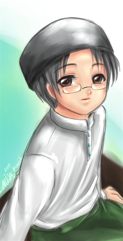 anime islam anime muslim boy wearing glasses pluie pinterest