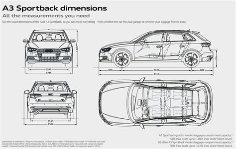 Audi A3 Dimensions 2014 by Audi A3 Sportback Audi Uk