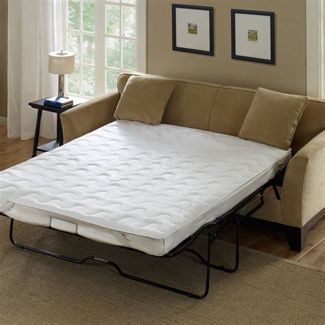 sleeper sofa mattress pad ikea mattress topper create a tiny layer for ultimate