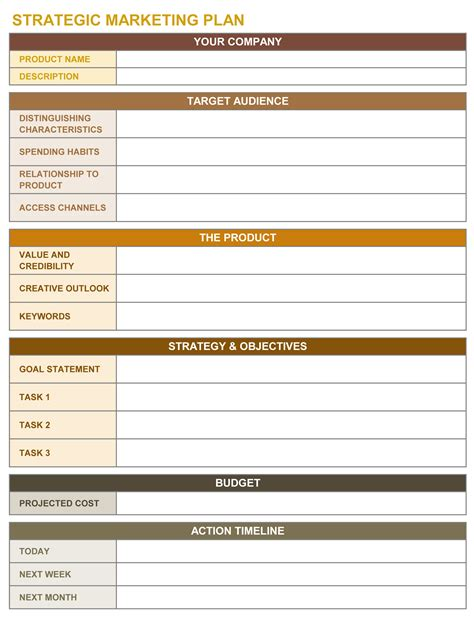 strategic marketing plan template free strategic marketing plan 9 free strategic planning templates smartsheet