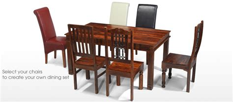Chunky Dining Table And Chairs Jali Sheesham 120 Cm Chunky Dining Table And 4 Chairs Quercus Living