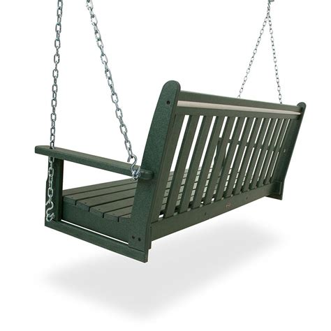 Polywood vineyard 60 inch swing bench usa made outdoor swinging benches for porch or garden