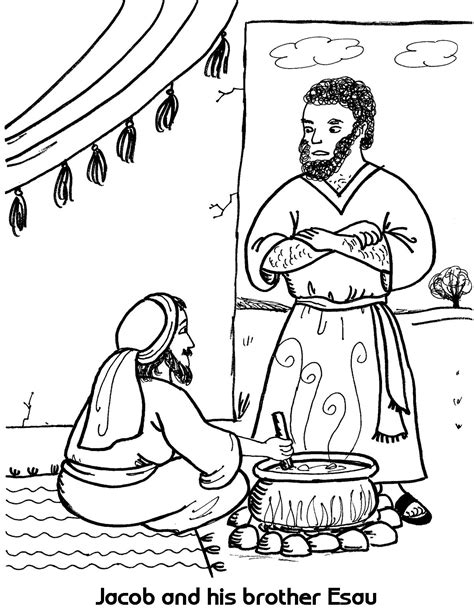 coloring page jacob and esau jacob meets esau coloring pages coloring home