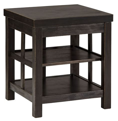 gavelston end table gavelston vintage rub through black square end table from