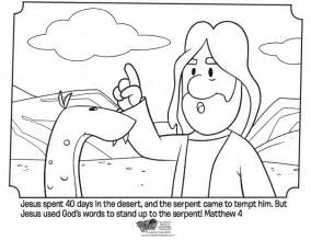 jesus tempted bible coloring pages bible